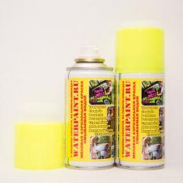 Смываемая меловая краска Waterpaint (желтая)